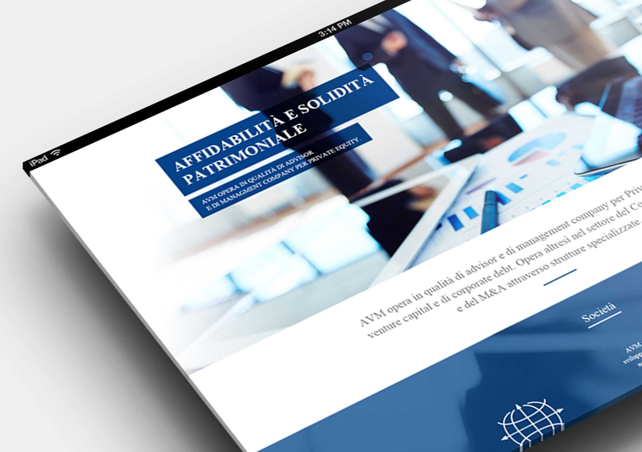 Develop of the new responsive website for AVM Associati Spa and AVM Gentioni