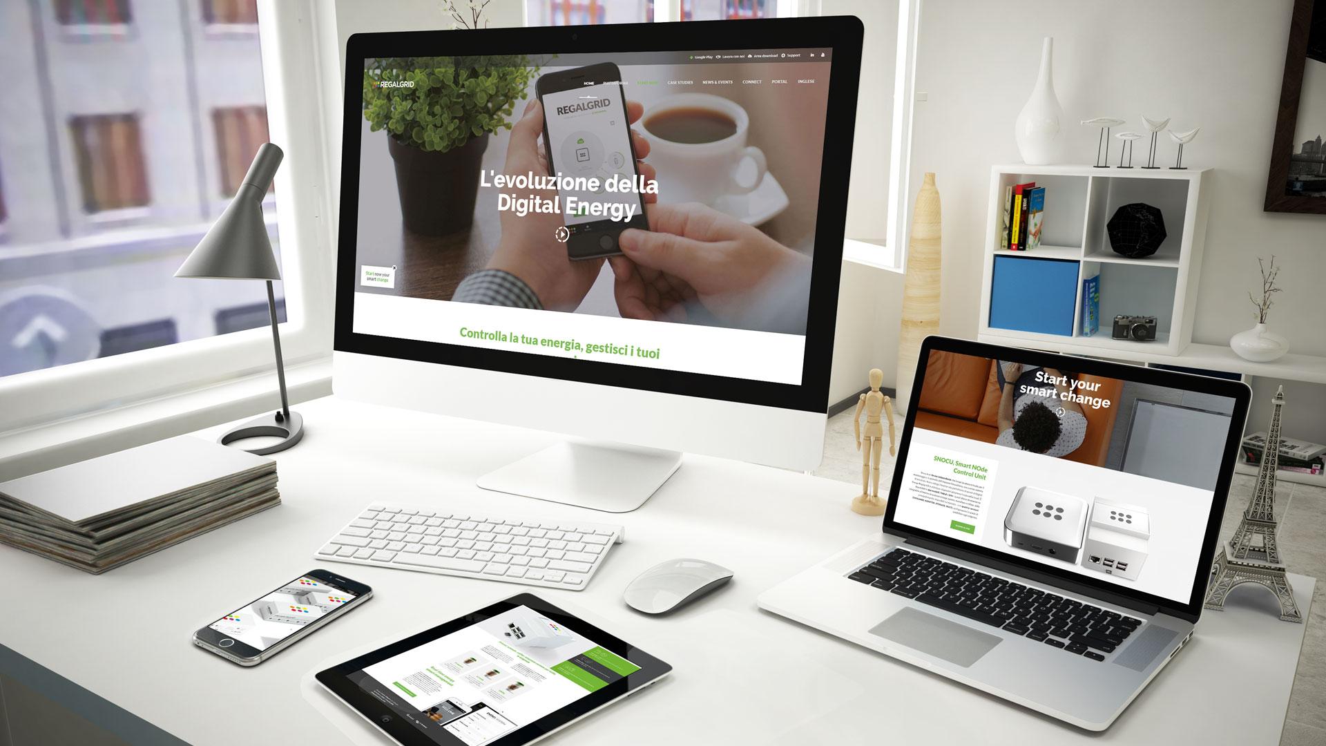 Regalgrid website by Advertendo