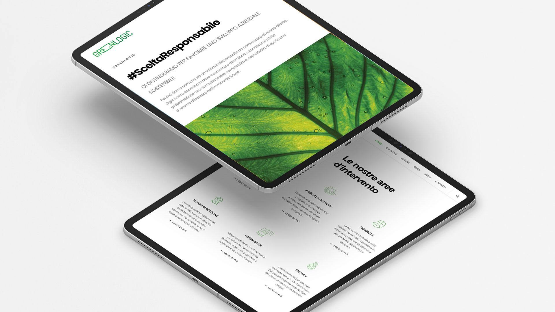 nuovo sito web greenlogic